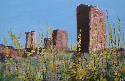 Painting - The Ruins At Salamis, Cyprus by Susan Brooks