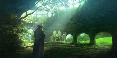 Silmarillion Painting - The Ruins Of Doriath by Pete Amachree