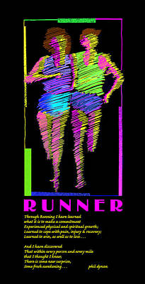 Painting - The Runner by Phil Dynan