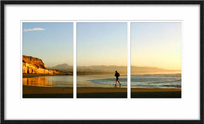 Jogger Digital Art - The Runner Triptych by Lynn Andrews