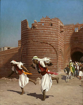 Jean-leon Gerome Painting - The Runners Of The Pasha by Jean-Leon Gerome
