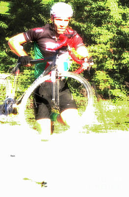 Bicycle Photograph - The Running Cycle  by Steven Digman