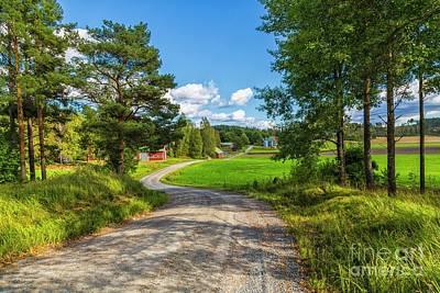 Red Barn Photograph - The Rural Landscape by Veikko Suikkanen
