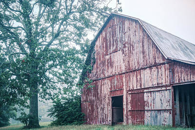 Photograph - The Rural Life - Red Barn Landscape by Gregory Ballos