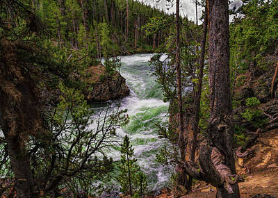 Photograph - The Rushing Yellowstone by John M Bailey