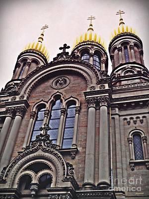 Photograph - The Russian Church In Wiesbaden 2 by Sarah Loft