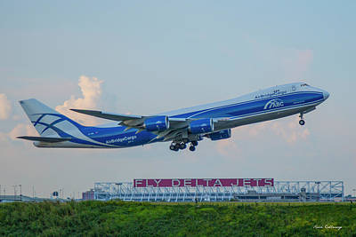 Photograph - The Russian Connection Air Bridge Cargo Abc B747-8f Cargo Jet Art by Reid Callaway
