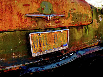 Photograph - The Rusted Ford by Jacqueline  DiAnne Wasson