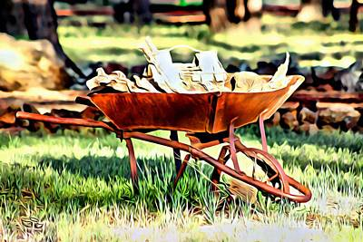 Photograph - The Rusted Wheelbarrow by Beauty For God