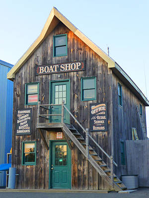 Photograph - The Rustic Boat Shop by Margie Avellino