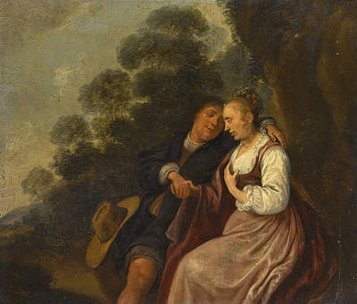 Jan Miense Molenaer Painting - The Rustic Courtship by Jan Miense Molenaer