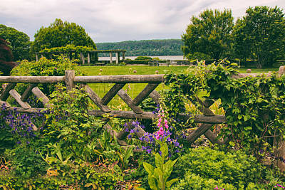 River View Photograph - The Rustic Fence by Jessica Jenney