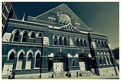 Photograph - The Ryman Auditorium  by Dan Sproul