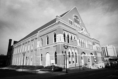 Nashville Tennessee Photograph - The Ryman Auditorium Former Home Of The Grand Ole Opry And Gospel Union Tabernacle Nashville by Joe Fox