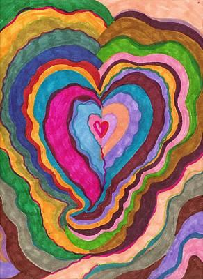 The Rythm Of Love Art Print by Brenda Adams