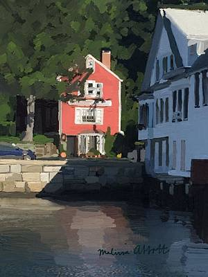Rockport Painting - The Sacred Cod And Beacon Marine by Melissa Abbott
