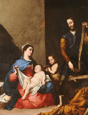 Painting - The Sacred Family by Jusepe de Ribera