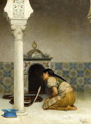 Painting - The Sacred Serpent by Theodoros Rallis