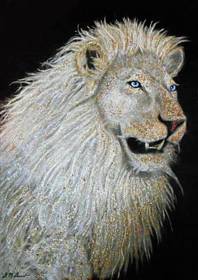 The Sacred Spirit Of The White Lion Art Print by Michael Durst