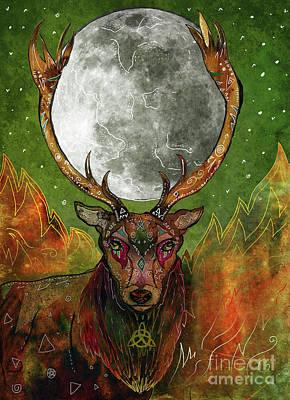 Goddess Mythology Mixed Media - The Sacred Union by Francesca Rizzato