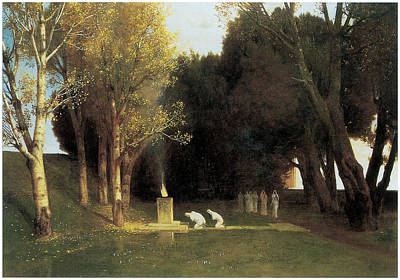 Arnold Painting - The Sacred Wood by Arnold Bocklin