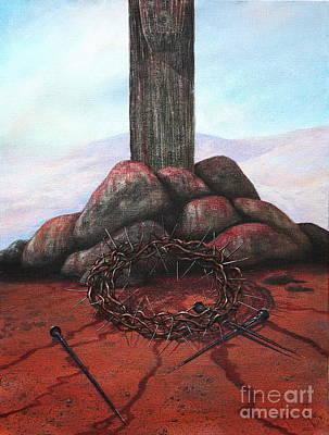 The Sacrifice Of His Love Art Print by Michael Nowak