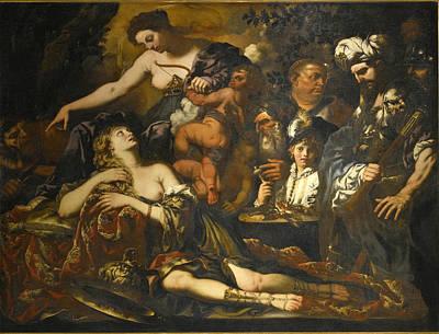 Painting - The Sacrifice Of Iphigenia by Pietro Paolo Raggi