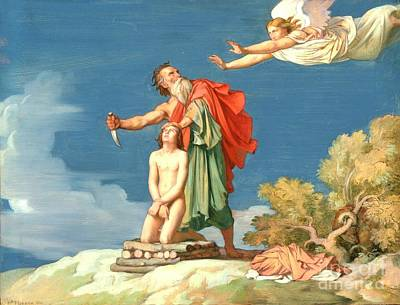 Flandrin Painting - The Sacrifice Of Isaac by MotionAge Designs