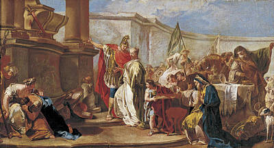 Painting - The Sacrifice Of Polyxena by Studio of Giambattista Pittoni