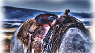 Digital Art - The Saddle Oil by Michael Damiani