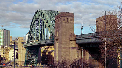 Photograph - The Sage Gateshead And Tyne Bridge by Jacek Wojnarowski