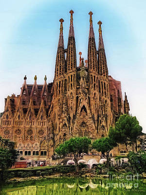 Photograph - The Sagrada Familia by Sue Melvin
