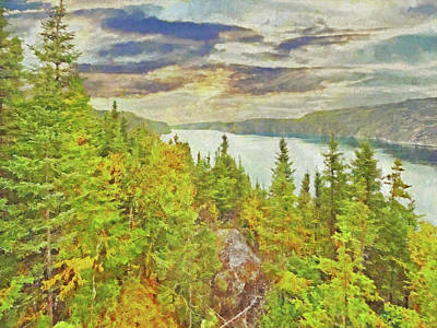 Digital Art - The Saguenay Fjord National Park In Quebec 2 by Digital Photographic Arts