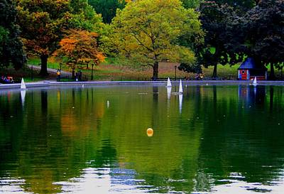 Photograph - The Sailboat Lake In The Park by Christopher Kirby