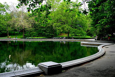 Photograph - The Sailboat Pond In The Park by Christopher Kirby