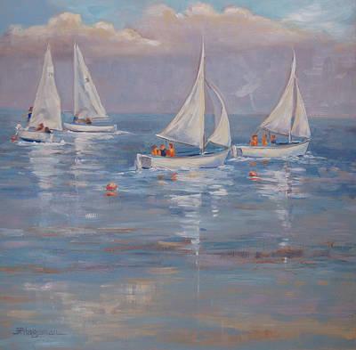The Sailing Lesson Art Print by Barbara Hageman