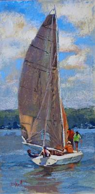 Painting - The Sailing Lesson by Donna Shortt