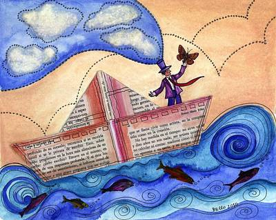 Children Book Mixed Media - The Sailor Dreamer by Graciela Bello