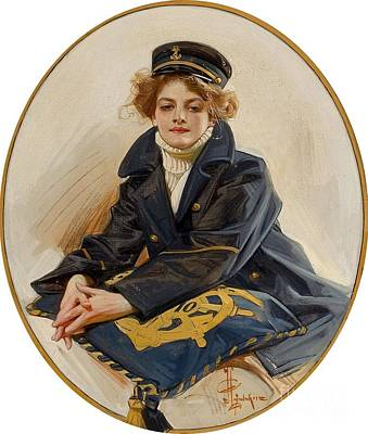 Sailors Girl Painting - The Sailor Girl by MotionAge Designs