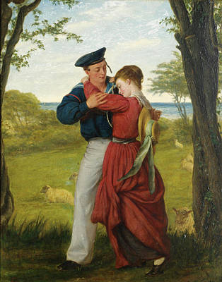 William Gale Painting - The Sailor's Farewell by William Gale