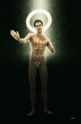 Holy Digital Art - The Saint Appeared Affectionate by Joaquin Abella