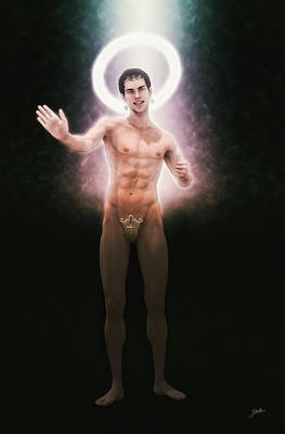 Controversy Digital Art - The Saint Appeared From The Light by Joaquin Abella