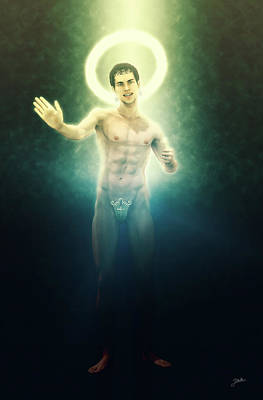Controversy Digital Art - The Saint Appeared by Joaquin Abella