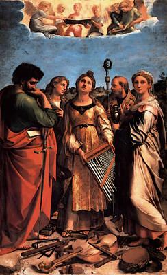 The Saint Cecilia Altarpiece Art Print
