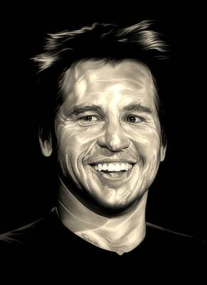 Val Kilmer Wall Art - Drawing - The Saint by Fred Larucci