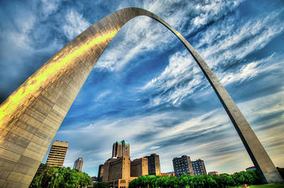 The Saint Louis Arch And City Skyline Art Print