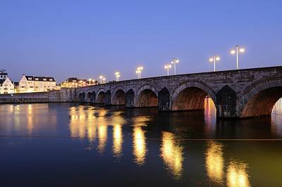 Sint Servaasbrug Photograph - The Saint Servatius Bridge In Maastricht by Merijn Van der Vliet
