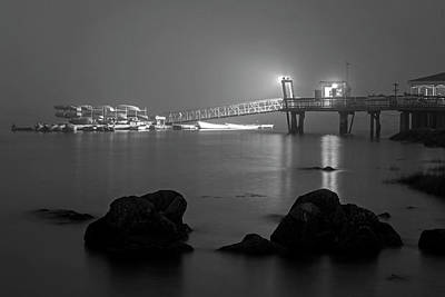 Photograph - The Salem Willows A Thick Fog Rolls In Black And White by Toby McGuire