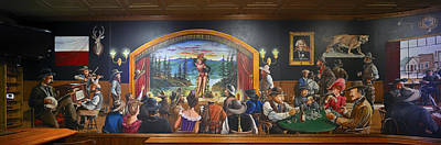 Old West Saloon Painting - The Saloon On Saturday Night by Mountain Dreams