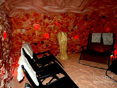 Digital Art - The Salt Cave by Ed Weidman